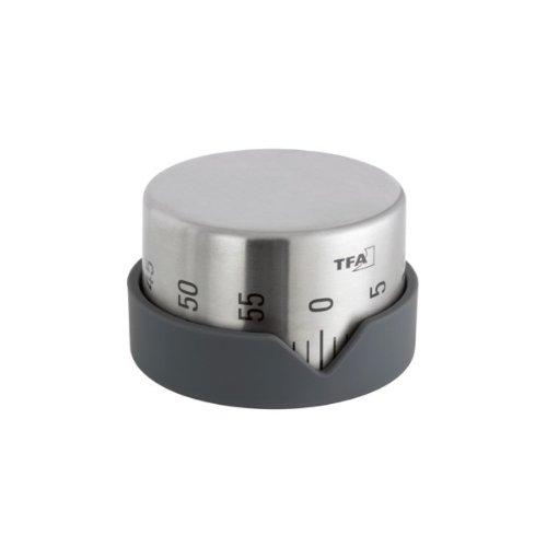 Budík kuchyňský TFA 38.1027.10 stříbrný/černý