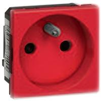 MOSAIC zásuvka 2p+t 2m červená