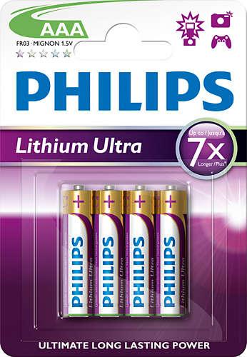 Philips baterie AAA Ultra lithium - 4ks