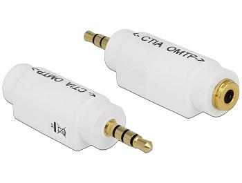 Delock adaptér 3.5 mm 4 pin Stereo jack samec > 3.5 mm 4 pin Stereo jack samice (mění obsazení pinů)
