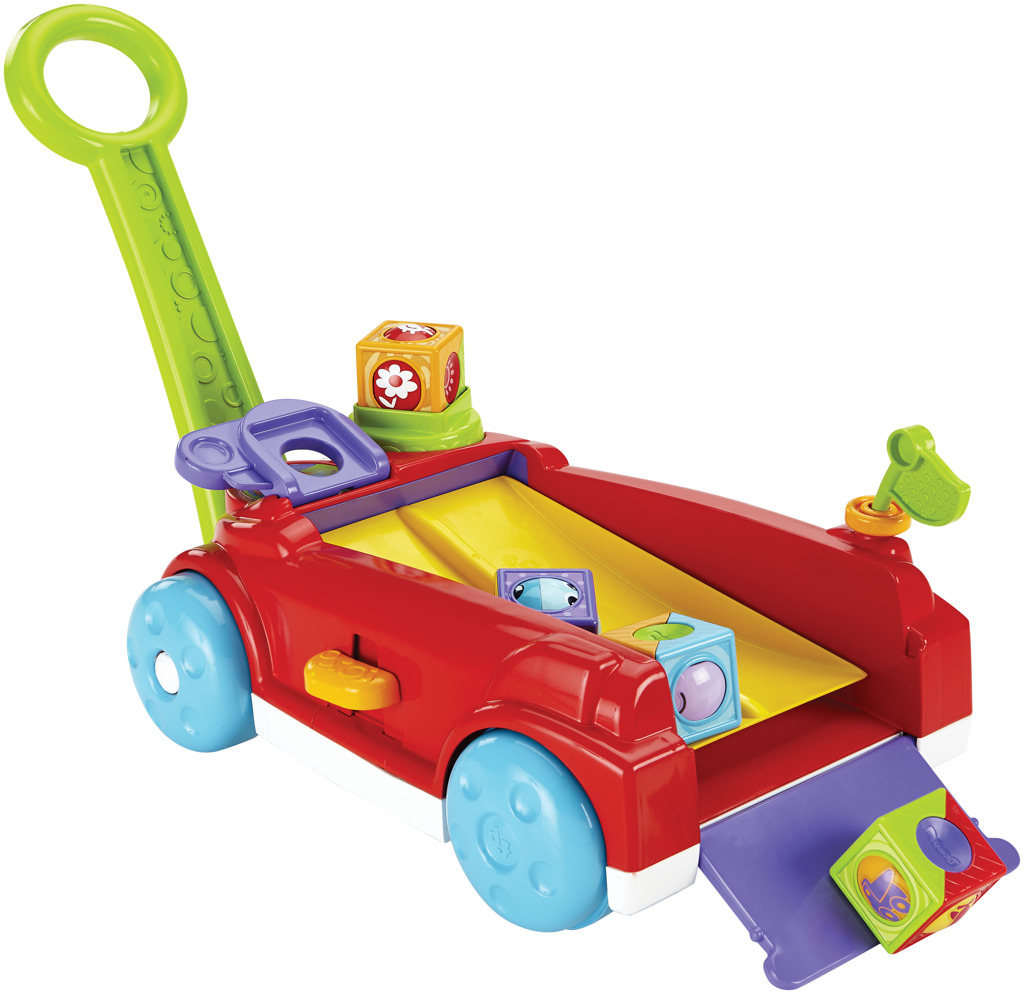 Fisher Price vozík s kostkami