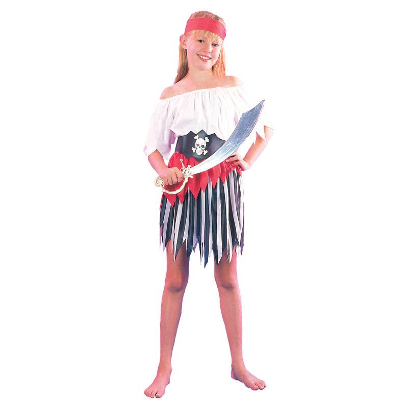 Kostým Pirátka,velikost 130-140 cm