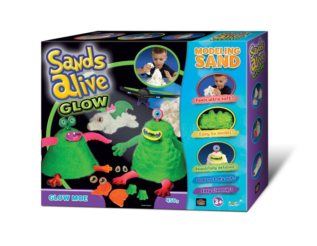 Sands Alive! Glow - Set příšerky