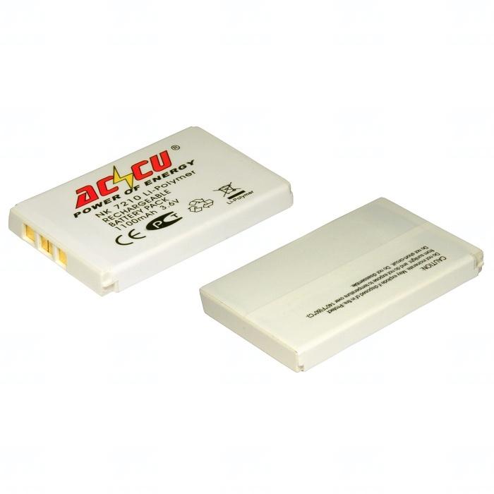 Baterie Accu pro Nokia 2100, 3200, 3300, 6220, 6610, 6650, 7210, 7250, Li-ion, 1000mAh