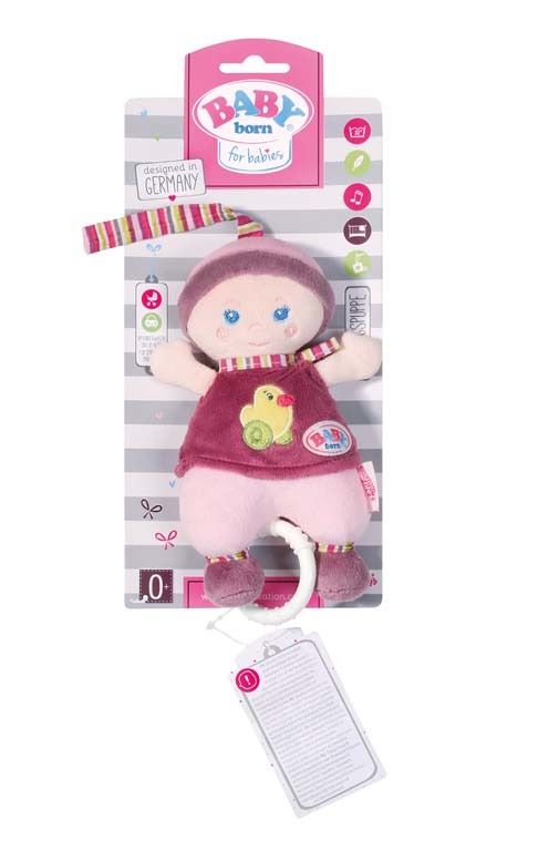 BABY born® for babies Panenka s natahovacím hracím strojkem