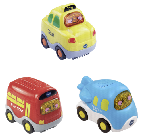 VTech Tut Tut Baby Flitzer Set 8 (taxi, letadlo, autobus)