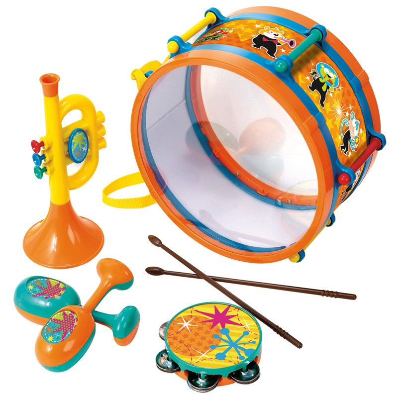 Sada hudebních nástrojů v bubínku
