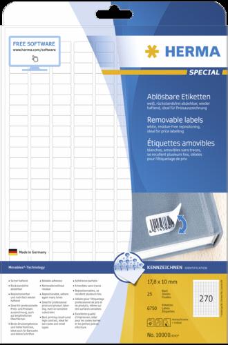Herma Movables etik. w. 17,8x10 25list.DIN A4 6750ks 10000