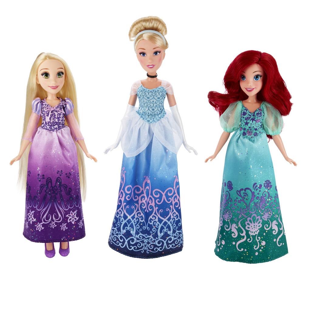 Disney Princess Ariel, Popelka, Locika