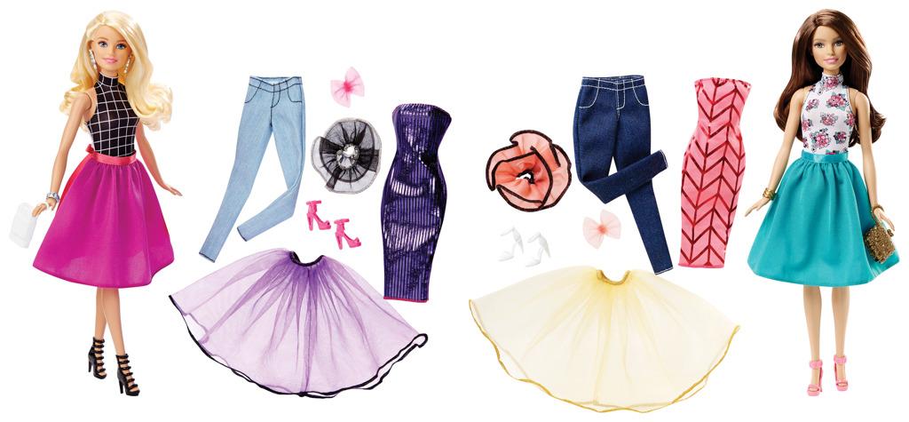 Barbie modelka a šaty
