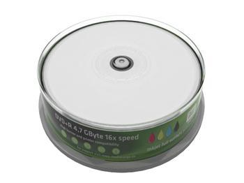 MEDIARANGE DVD+R 4,7GB 16x Inkjet Fullsurface-Printable Cake 25
