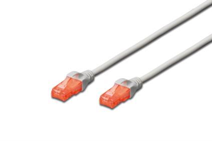 Digitus Ecoline Patch Cable, UTP, CAT 6e, AWG 26/7, šedý 0,5m, 1ks