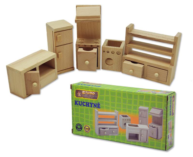 Dřevěný mini nábytek - kuchyně