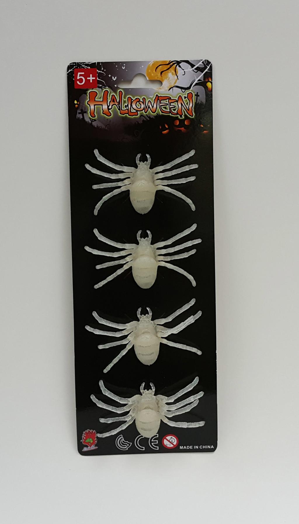Pavouci svítící ve tmě 4 ks
