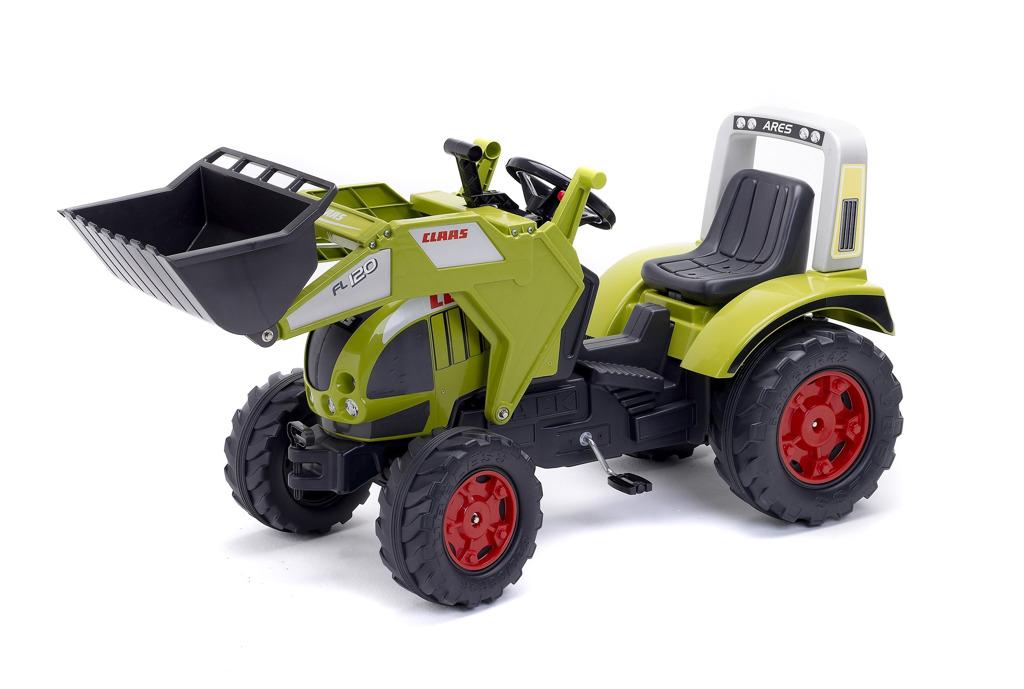 Traktor šlapací Claas Arion 540 s přední lžící zelený