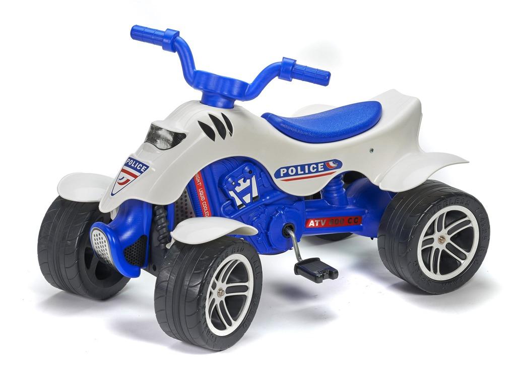 Čtyřkolka šlapací bílo/modrá policie