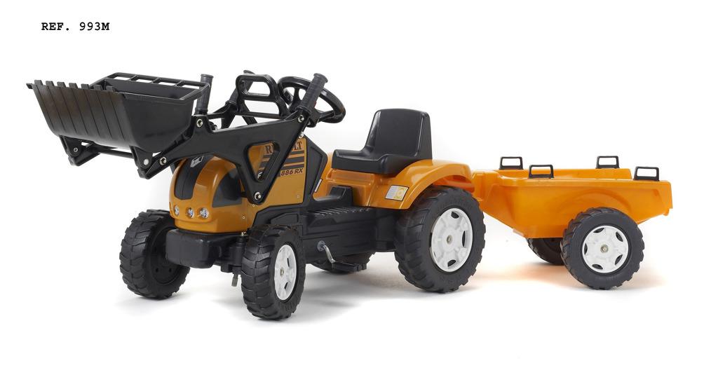 Traktor šlapací Reanault Ares 886RX s přední lžící a valníke
