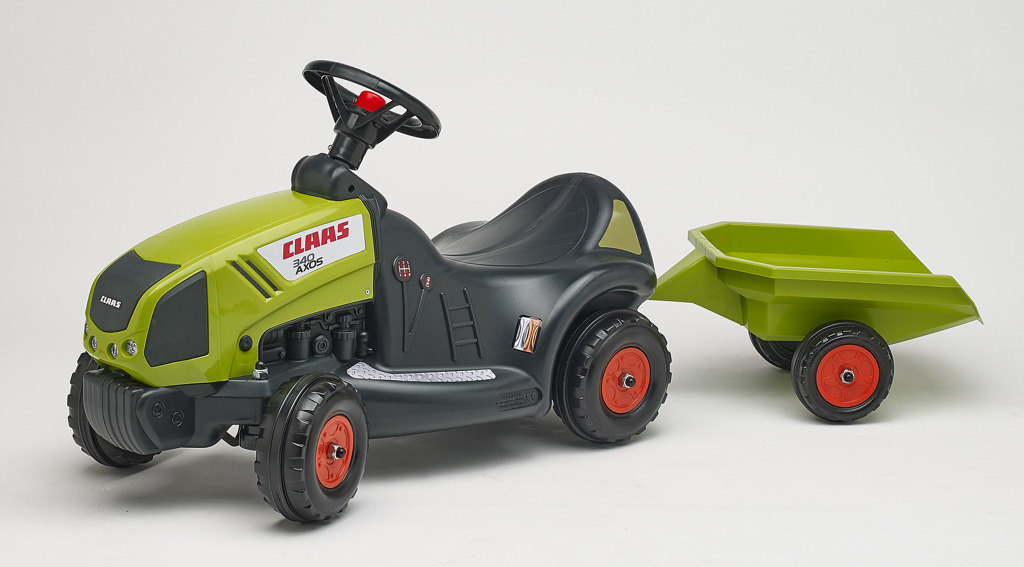 Odstrkovadlo - traktor Claas Axos 340 s volantem a valníkem