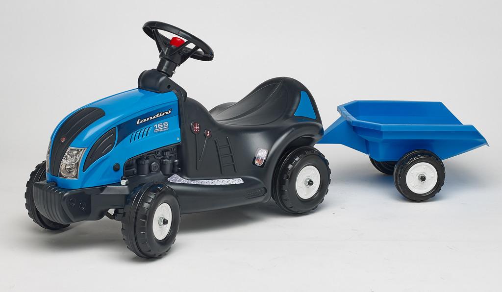 Odstrkovadlo - traktor Landini 165 s volantem a valníkem