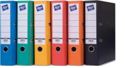 HIT office Pořadač pákový A4 8 cm oranžový prešpan
