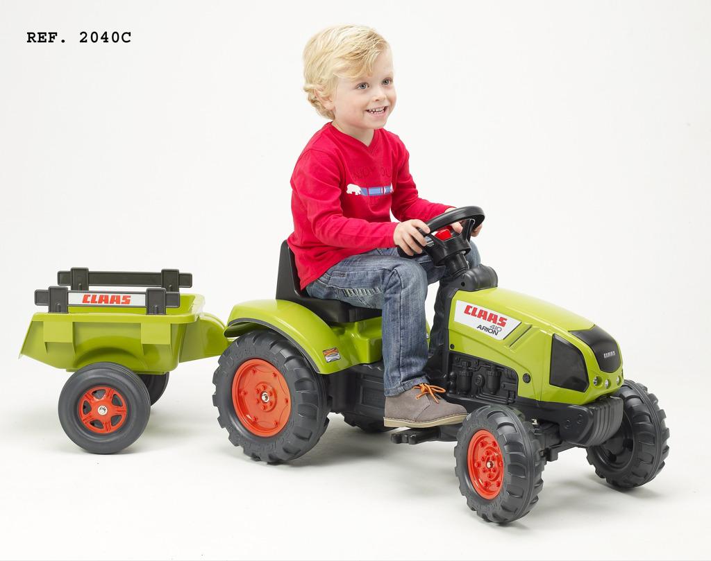 Traktor šlapací Claas Arion 410 s valníkem zelený