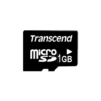 Transcend 1GB microSD paměťová karta (bez adaptéru)