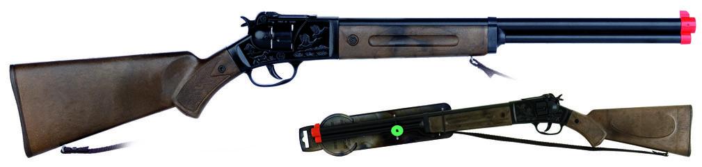 Puška kovbojská černá kovová - 12 ran