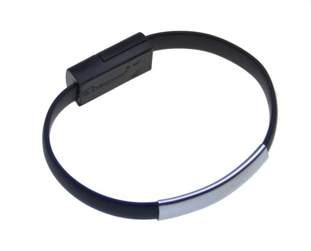 Datový kabel BRACELET iPh5/6 nabíjecí black