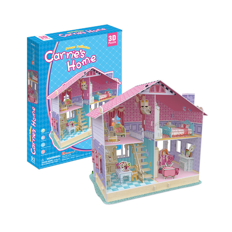 Puzzle 3D Dům pro panenky Carrie's Home