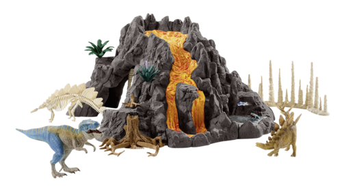 Schleich Dinosaurs Giant volcano with T-rex
