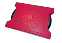 """OMEGA chladič pod notebook CHILLY, pro notebooky 10 - 15,6"""", 16cm ventilátor, 4x USB port, červený"""