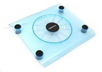 """OMEGA chladič pod notebook SNOWBALL, pro notebooky do 15"""", 14cm ventilátor, 1x USB port, modrý"""