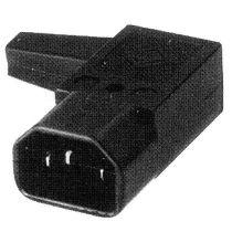PremiumCord konektor IEC 320 C14 10A pravoúhlý
