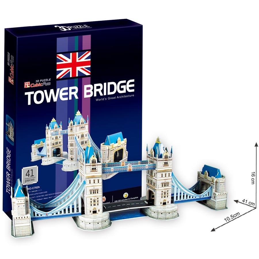 Puzzle 3D Tower Bridge - 41 dílků