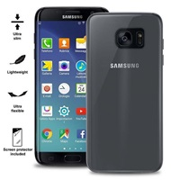 "Puro zadní kryt pro Samsung Galaxy S7 edge ULTRA-SLIM ""0.3"" s fólií na displej, transparentní"