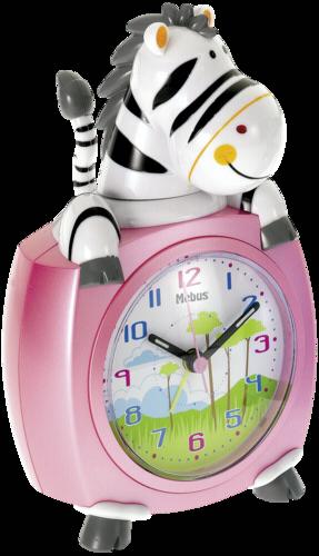 Mebus 26637 Kids Alarm Clock Zebra colour assorted