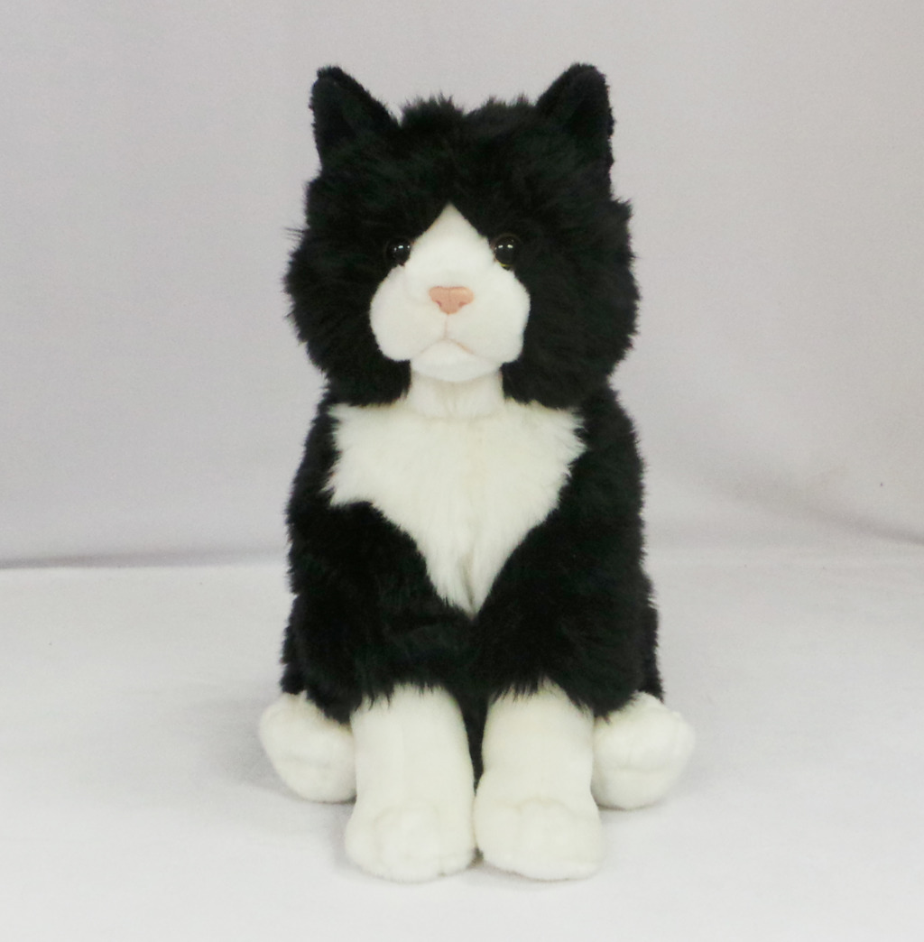Kočka plyšová pružná 30cm