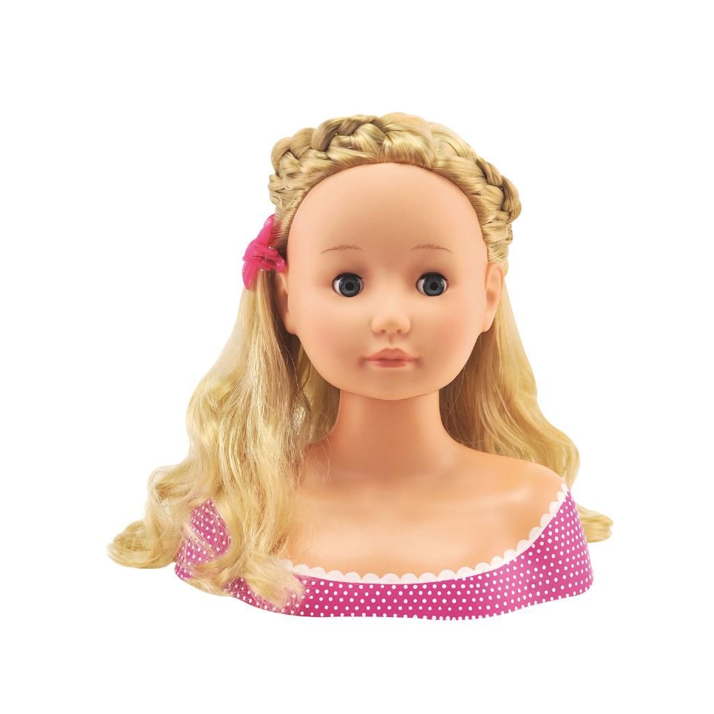 Česací hlava Bambolina Boutiques kosmetikou