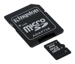 Kingston paměťová karta 8GB micro SDHC CL4 (čtení/zápis: 10/4MB/s) + SD adaptér