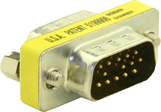 Adaptér DB15 (VGA) samec/samec