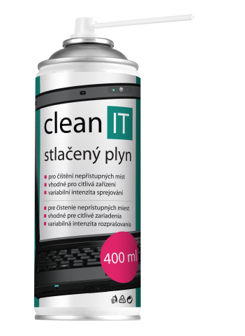 CLEAN IT stlačený vzduch 600ml