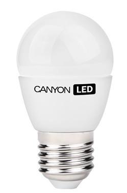 Canyon LED COB žárovka, E27, kompakt kulatá, mléčná 3.3W, 250 lm, teplá bílá 2700K, 220-240, 150 °, Ra> 80, 50.000 hod