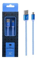 Datový kabel PLUS METAL MicroUSB, 1M, modrý