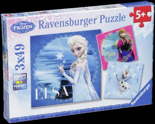Ravensburger Elsa, Anna & Olaf 3 X 49 pcs Puzzle Disney Frozen