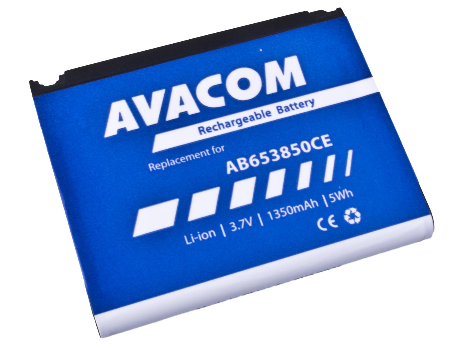 Baterie AVACOM GSSA-i900-S1350A do mobilu Samsung SGH-i900 Li-Ion 3,7V 1350mAh (náhrada AB653850CE)