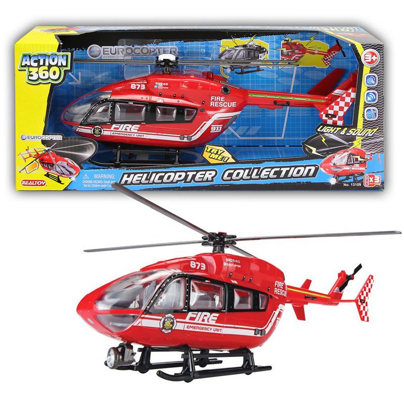 Helikoptéra se světlem a zvukem