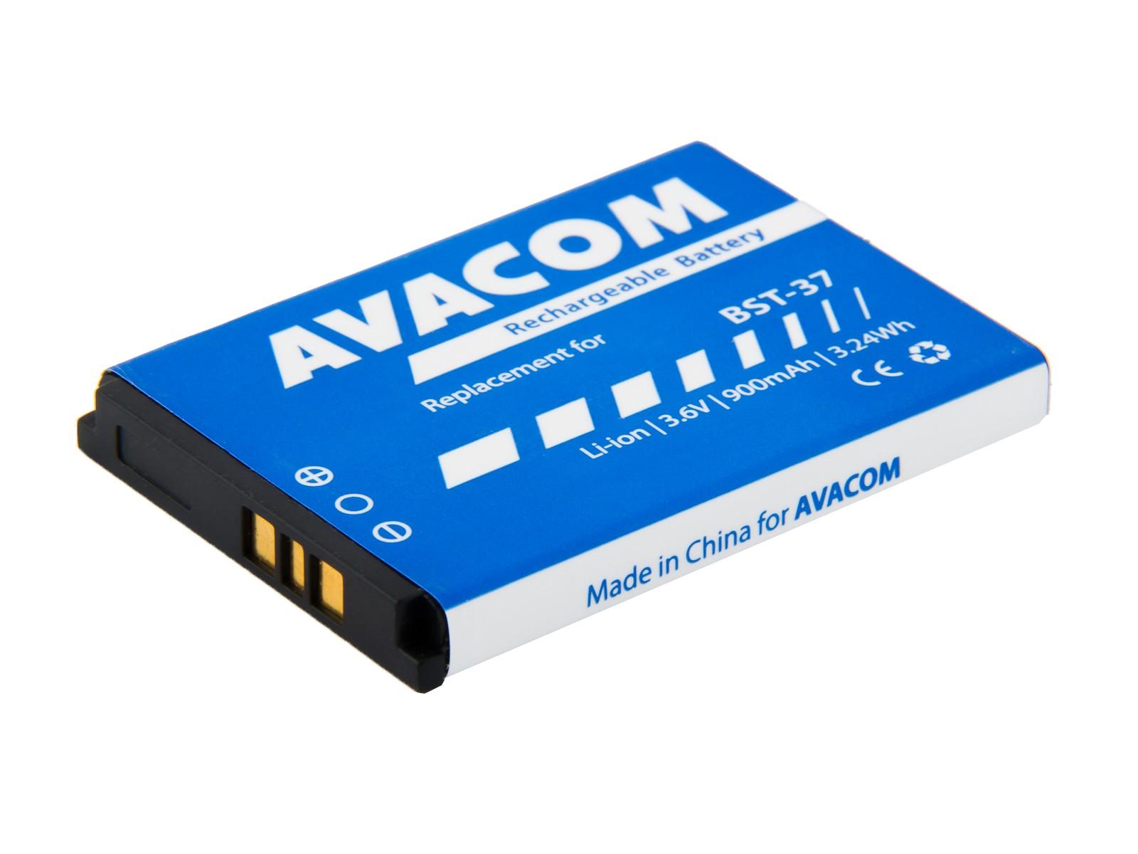 Náhradní baterie AVACOM Baterie do mobilu Sony Ericsson K750, W800 Li-Ion 3,7V 900mAh, (náhrada BST-37)