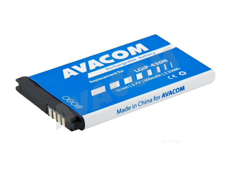 Baterie AVACOM GSLG-430N-900 do mobilu LG GM360 Li-Ion 3,7V 900mAh, (náhrada LGIP-430N)