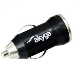 Akyga Autonabíječka 1000mA USB černá