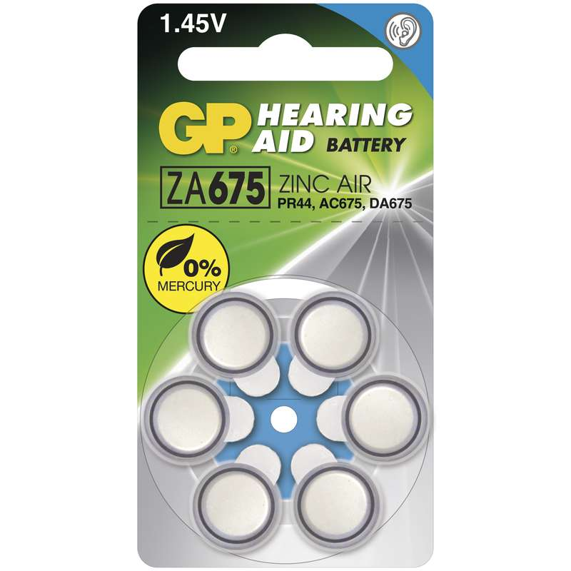 Baterie do naslouchadel GP ZA675 - 6ks